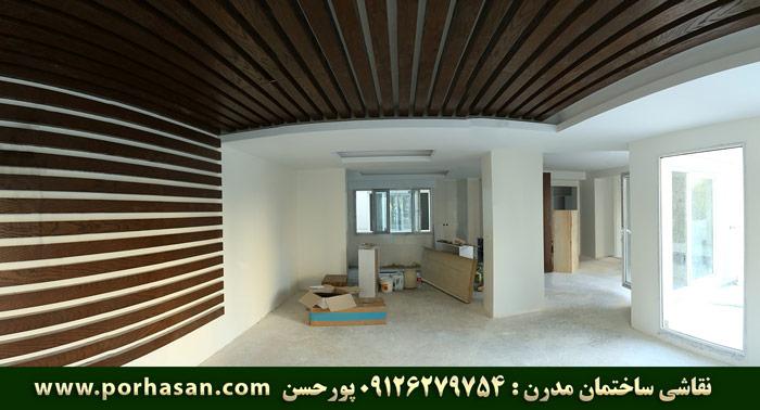 نقاشی ساختمان مدرن - پورحسن - mohammad porhasan tehran iran house painter